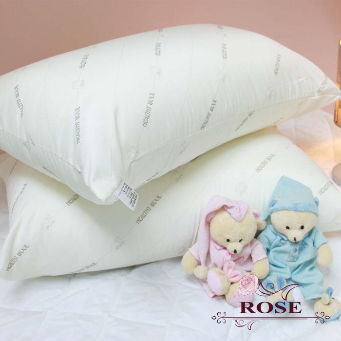 【ROSE】健康羊毛枕2入