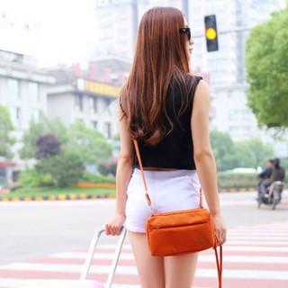 【Bunny】韓款旅行防水收納單肩包護照包證件包手拿包灰色