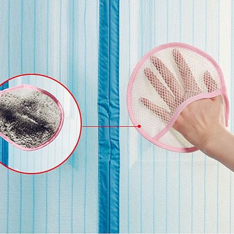 【Bunny】防蚊門簾蚊帳紗窗除塵清潔護手抹布手套(五入)