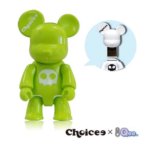 Choicee x Qee 8GB公仔熊隨身碟(蘋果綠)--myfone購物