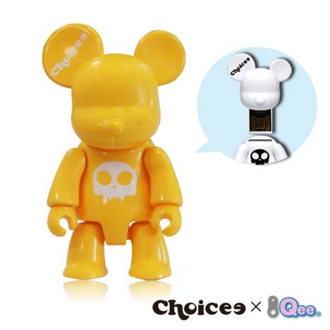 Choicee x Qee 8GB公仔熊隨身碟(萊姆黃)