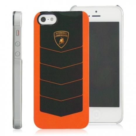 義大利Lamborghini藍寶堅尼授權 CORSA iPhone 5/5s/SE 保護殼(橘+黑)