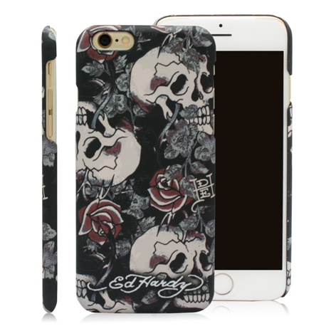 Ed Hardy iPhone 6/6s (4.7吋) 保護殼-骷髏玫瑰