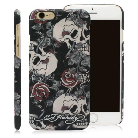 Ed Hardy iPhone 6/6S Plus (5.5吋)保護殼-骷髏玫瑰