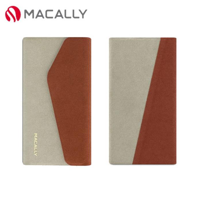 【Macally】iPhone 5C側翻式可旋轉立架保護皮套-棕(WALLETP6O)