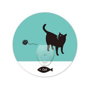 (任選)【2EASY】無痕掛勾 單掛鉤-剪影貓