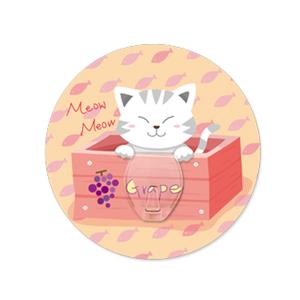 (任選)【2EASY】無痕掛勾 單掛鉤-木箱貓