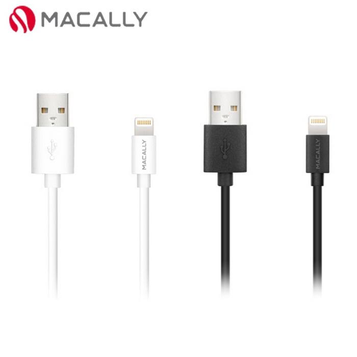 【Macally】APPLE原廠授權 iPhone iPad 專用Lightning充電/傳輸線-0.9M黑/白