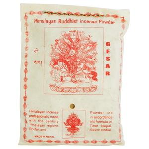 【藏傳佛教文物】給薩王 天然除障香粉 煙供粉-160g(PBI-10)-5入