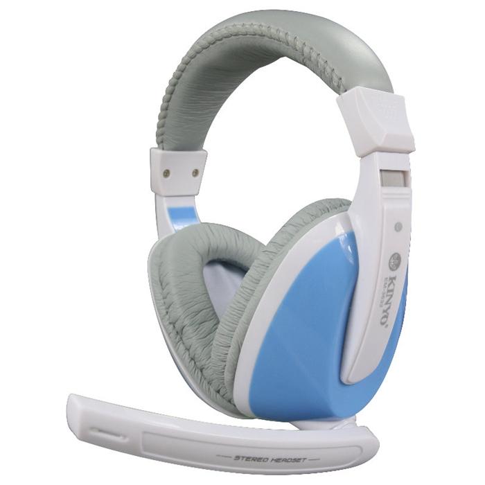 【KINYO】藍海 全罩式重低音耳機麥克風(EM-3632)