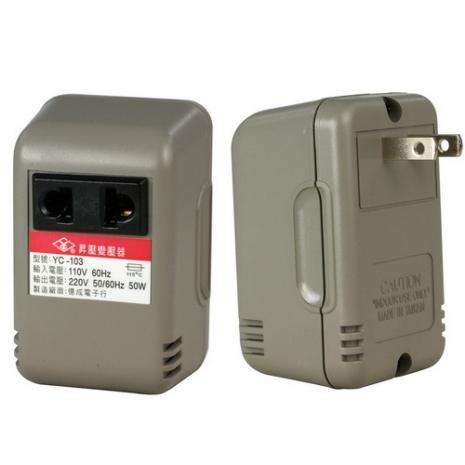 【KINYO】台灣製 110V升220V電源升壓器(YC-103)
