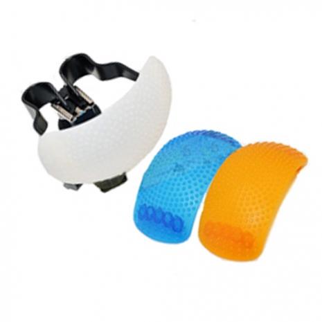 單眼相機 內閃燈 專用柔光罩 (白,橘,藍三色組)