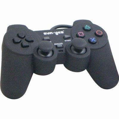 順悅 SUNYES F1 PS2 專用 皮革質感雙震動 搖桿