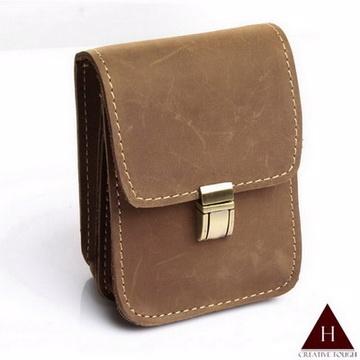 【H-CT】個性瘋馬皮設計直式真皮手機套小腰包(SSBP773)