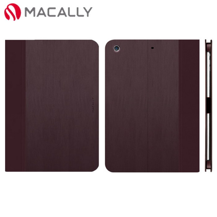 【Macally】iPad Air側掀可站立式皮套-酒紅(SCASEPA5PU)