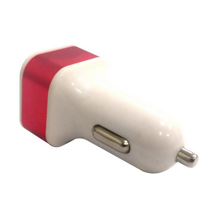 車用點煙器轉1A+2.1A雙獨立輸出急速USB充電器(可選色)黑色