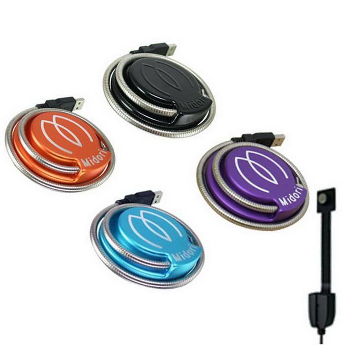 Midori 二代 超亮CREE USB LED廣角蛇管燈/桌燈-附支架USB延長線(可選色)