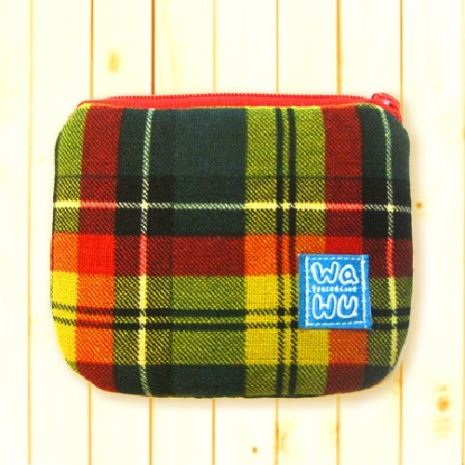 WaWu 小零錢包 *限量 (黃格紋) 台灣製