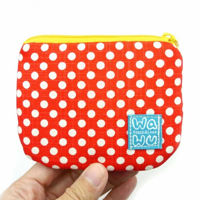 WaWu 小零錢包 (紅色點點)