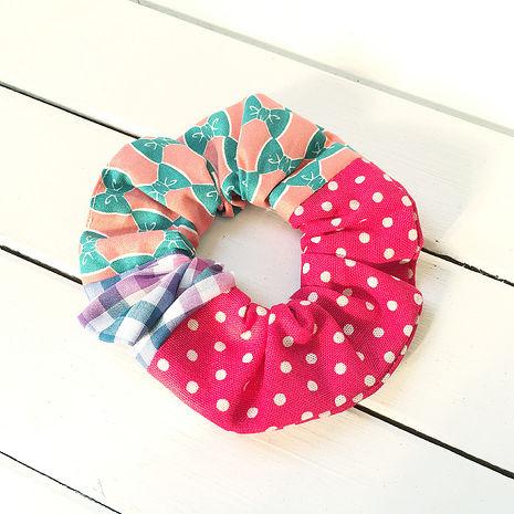 WaWu 貝果髮束, 大腸圈, 甜甜圈, 髮圈, 髮束 (粉桃系)