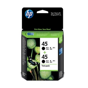 HP CC625AA NO.45原廠黑色墨水匣雙包裝
