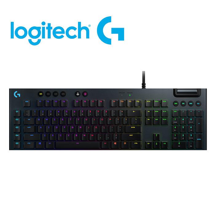 Logitech 羅技 G813 Clicky RGB 機械遊戲鍵盤 (薄型 GL 按鍵軸/矮軸青軸手感)