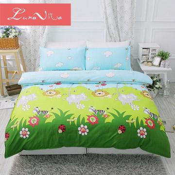 Luna Vita 鑽石絨-森林王國 超細摩毛纖維 雙人四件式床包組