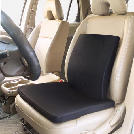 CARBUFF 車痴竹炭記憶透氣護腰+止滑坐墊組合(黑色/米咖) 10150+10151米咖