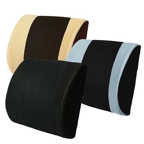 【源之氣】竹炭護腰墊/三色可選《辦公椅 汽車皆適用》RM-9406黑色