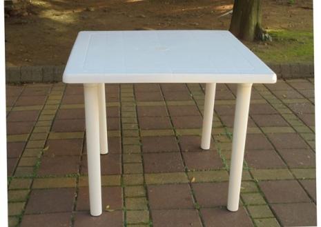 Brother Club~兄弟牌歐式風情~白色塑膠方桌(91cm)