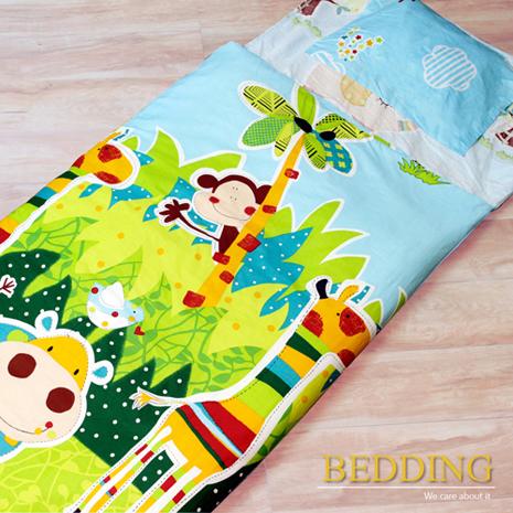搶購【BEDDING】100%棉 舖棉冬夏兩用兒童睡袋(快樂派對)