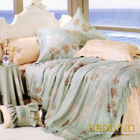 【BEDDING】雙人四件式天絲兩用被床包組(飄絮)(促銷價)