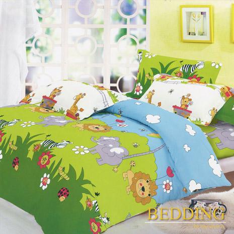 【BEDDING】森林王國 純棉 雙人四件式床包被套組