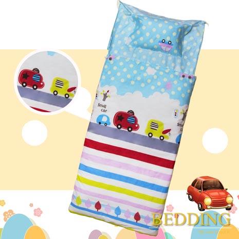 【BEDDING】100%棉 舖棉冬夏兩用兒童睡袋(快樂巴士)