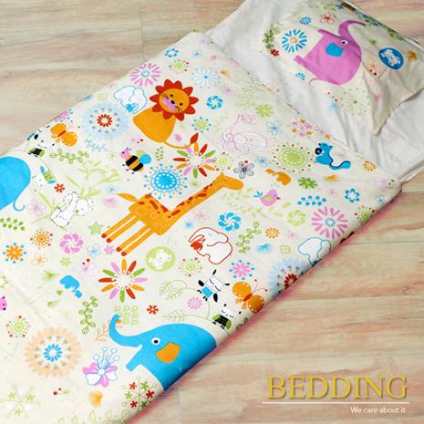 【BEDDING】100%棉 舖棉冬夏兩用兒童睡袋( 頑皮世界)