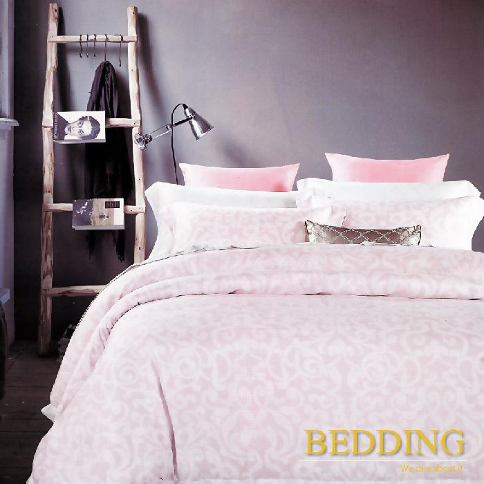 【BEDDING】 思綺-粉 天絲雙人床包兩用被組100%TENCEL(特賣)