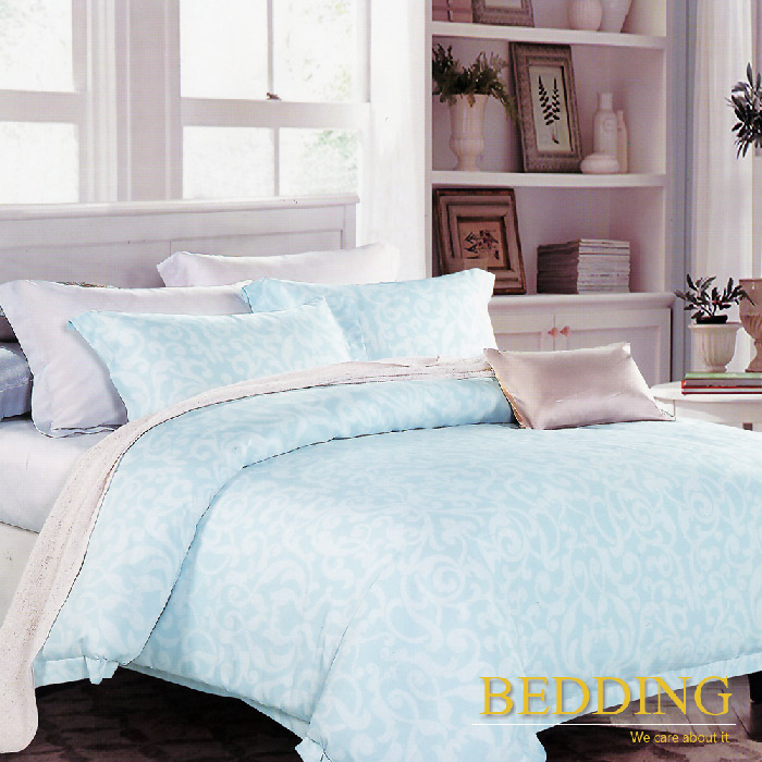 【BEDDING】 思綺-藍 天絲雙人床包兩用被組100%TENCEL(特賣)