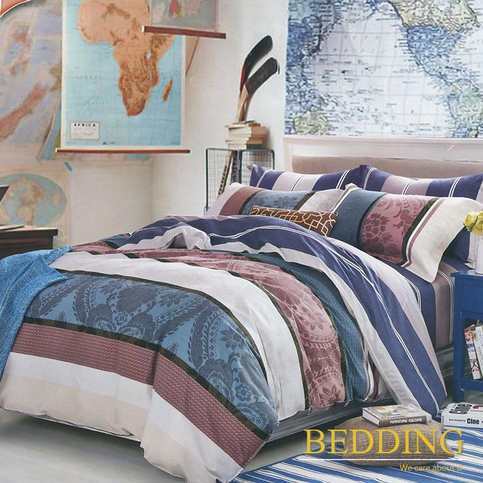 【BEDDING】100%棉 單人舖棉床包+舖棉兩用被三件組-歡樂頌