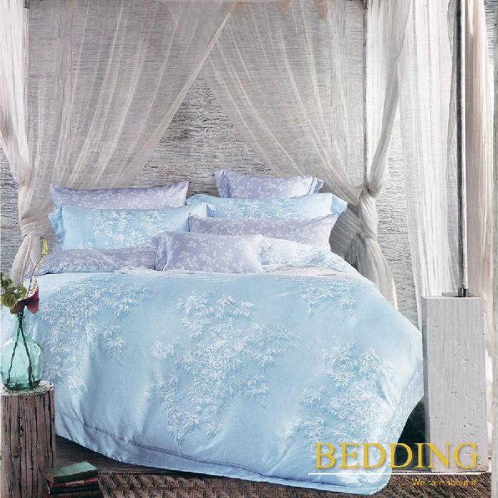 【BEDDING】風琴隧道(藍) 天絲雙人床包兩用被組100%TENCEL(特賣)
