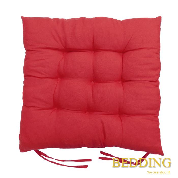 【BEDDING】綁帶式九針餐桌椅墊-胭脂紅-居家日用.傢俱寢具-myfone購物