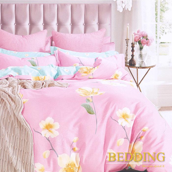 BEDDING - 100%純棉 5x6尺春夏涼被/空調被 因為愛情-粉