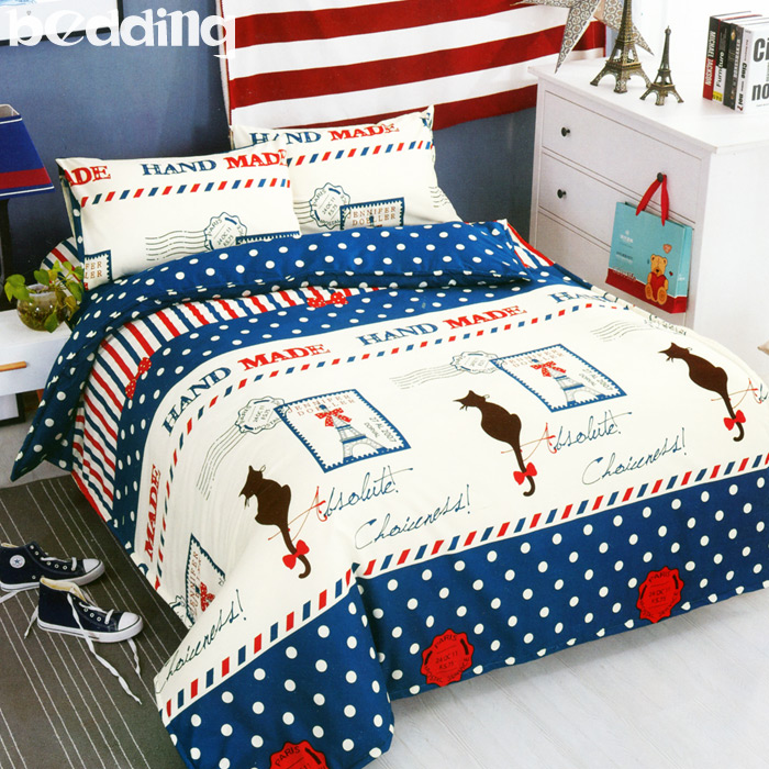 BEDDING - 加大鋪棉床包兩用被套四件組 活性印染「愛尚巴黎」
