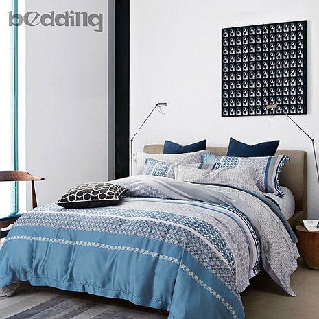 【BEDDING】100%天絲萊賽爾 雙人薄床包+鋪棉兩用被套 四件組 高36公分「淺酌」tencel