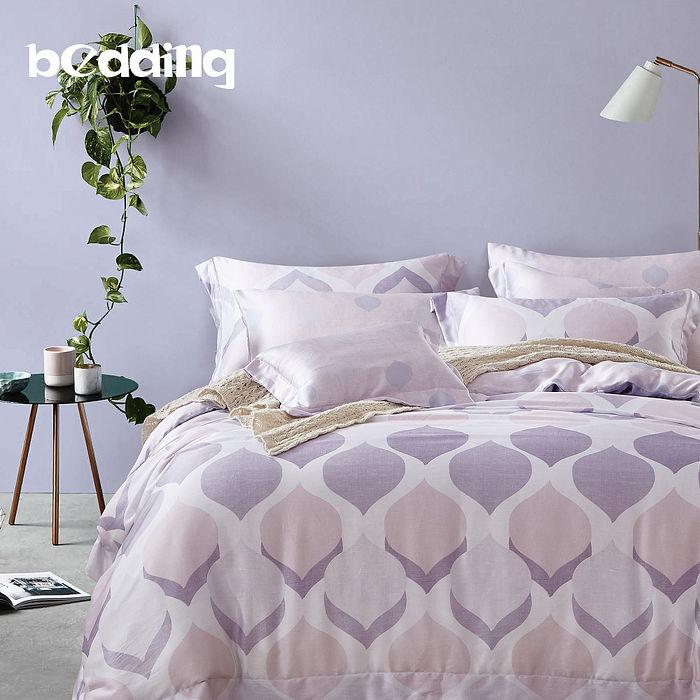 【BEDDING】100%天絲萊賽爾 雙人薄床包+鋪棉兩用被套 四件組 高36公分「慕格」tencel