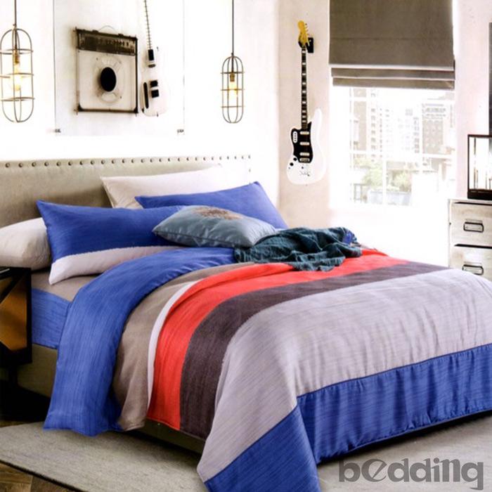 【BEDDING】100%天絲萊賽爾 雙人薄床包+鋪棉兩用被套 四件組 高36公分「奇點」tencel
