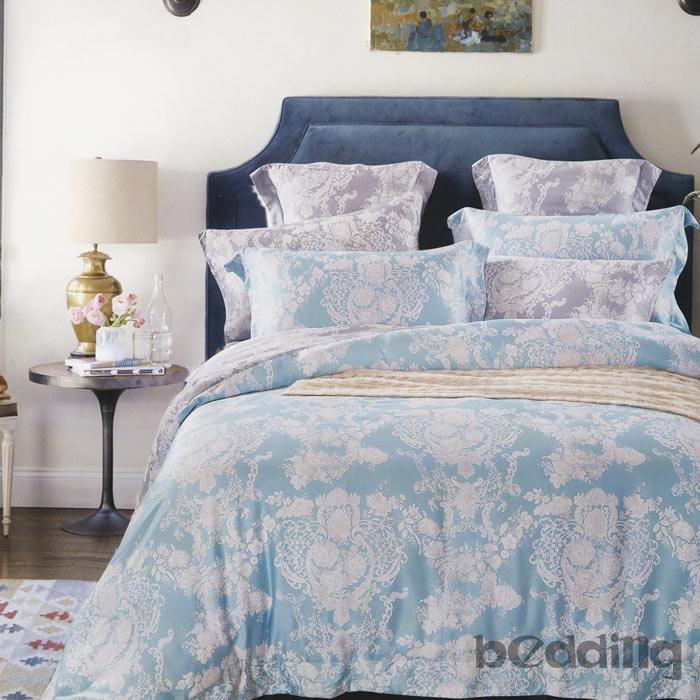 【BEDDING】100%天絲萊賽爾 雙人薄床包+鋪棉兩用被套 四件組 高36公分「時光琉璃」tencel