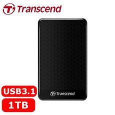 Transcend創見 StoreJet 25A3 1TB 2.5吋 行動硬碟 黑