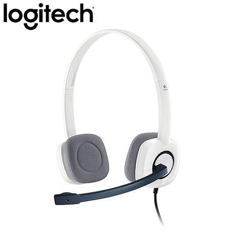 Logitech羅技  H150 立體聲耳機麥克風 (白色)