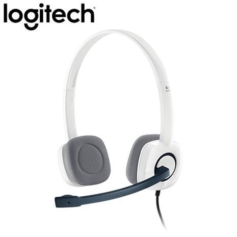 Logitech羅技  H150 立體聲耳機麥克風 (白色)-3C電腦週邊-myfone購物