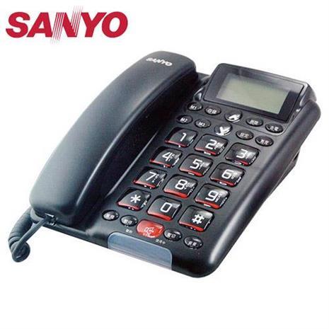 三洋全免持對講來電顯示有線電話TEL-011(黑)